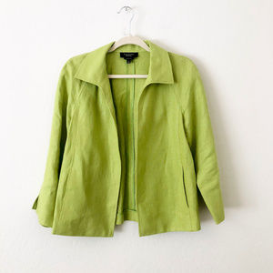 Talbots Lime Green Jacket with Pockets Sma…